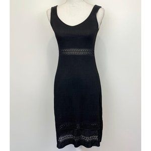 Escada dress black ribbed knit stretch sleeveless